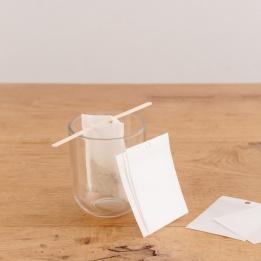 Mousseline papier pour thés et infusions - boite de 1000 pièces - 8 x 6 cm